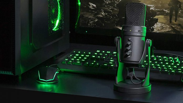 Gaming and streaming microphone.